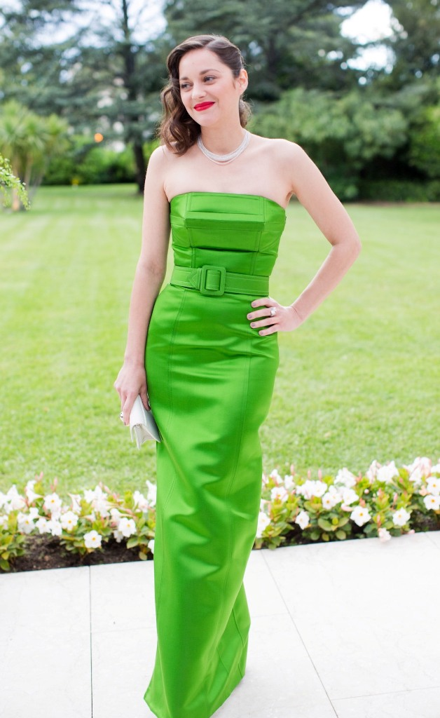 Marion Cotillard, in Jean Paul Gaultier Haute Couture, with Chopard jewels